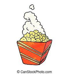 textured cartoon fresh popcorn