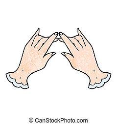 textured cartoon hands
