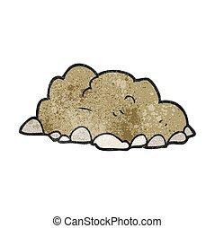 textured cartoon pile of dirt