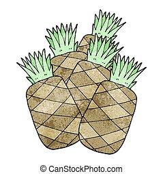 textured cartoon pineapples