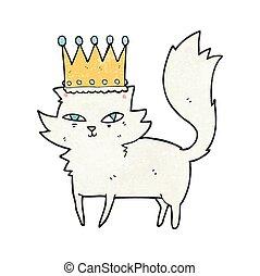 textured cartoon posh cat