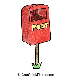 textured cartoon post box