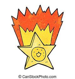 textured cartoon sheriff badge