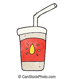 textured cartoon soda drink