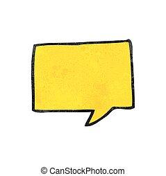 textured cartoon speech bubble