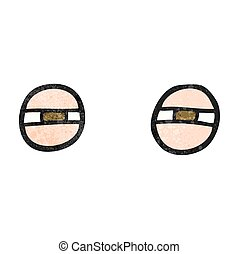 textured cartoon suspicious eyes