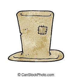 textured cartoon tramp top hat