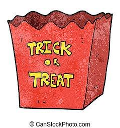 textured cartoon trick or treat bag