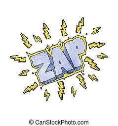 textured cartoon zap symbol