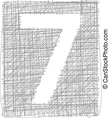 Freehand Typography Number 7