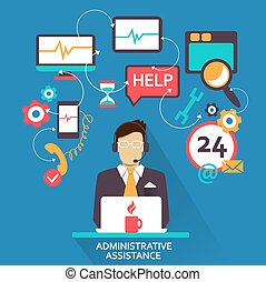Freelance Administrative assistance - Flat design....