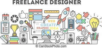 Freelance designer illustration.