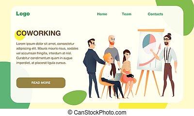 freelance, modernos, coworking, estúdio, reunião equipe