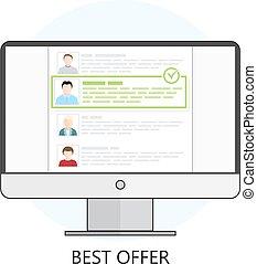 freelance, oferta, melhor, ícone