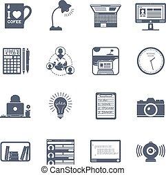 freelance, set, pictogram