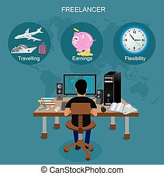 freelance vector illustration