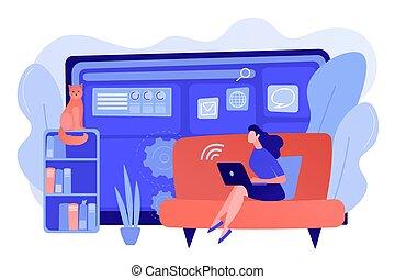 Freelance work concept vector illustration