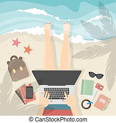 Freelance work concept.