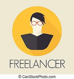 freelancer, avatar, icono