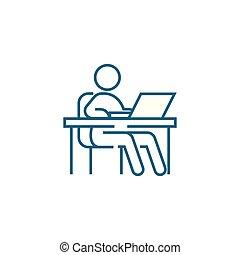Freelancer linear icon concept. Freelancer line vector sign, symbol, illustration.