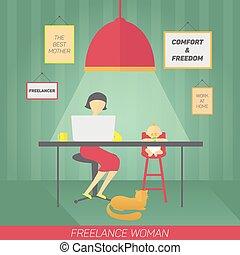 freelancer, madre