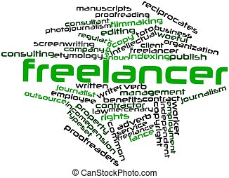 Freelancer - Abstract word cloud for Freelancer with related...