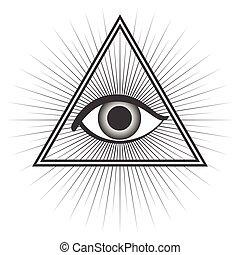 Freemason symbol isolated on white background