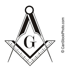 freemason symbol - black and white freemason symbol...