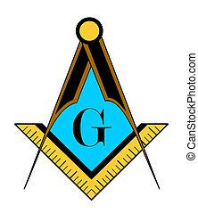 freemason symbol - color freemason symbol illustration...