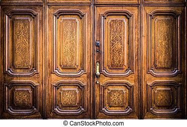Freemasonry door entrance - Original freemasonry door in...