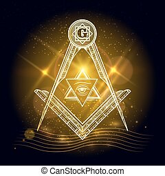 freemasony, het glanzen, achtergrond, meldingsbord