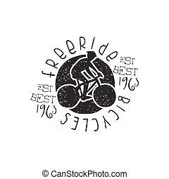 freeride, bicycles, weinlese, briefmarke