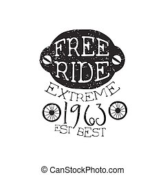 Freeride Extreme Vintage Label