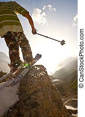 Freerider in Caucasus Mountains, Elbrus, summer 2010