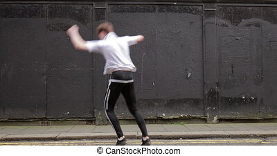 Freerunner in the City - Freerunner is doing a cartwheel...