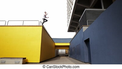 Freerunner on the Rooftops - Freerunner is jumping between...