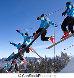 freeskier in a jump