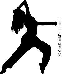 Freestyle dancing woman