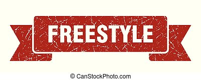 freestyle grunge ribbon. freestyle sign. freestyle banner