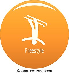 Freestyle icon vector orange