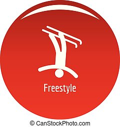Freestyle icon vector red