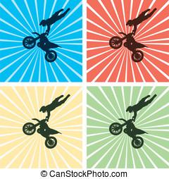 Freestyle motocross jump