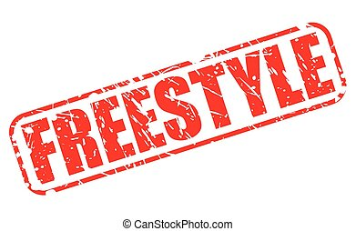 Freestyle red stamp text