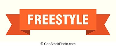 freestyle ribbon. freestyle isolated sign. freestyle banner