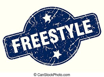freestyle sign - freestyle vintage round isolated stamp