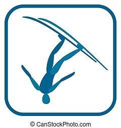 Freestyle skiing emblem.