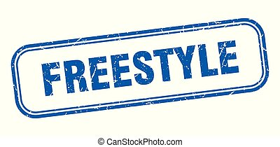 freestyle stamp. freestyle square grunge sign. freestyle