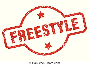 freestyle stamp isolated on white