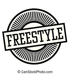 freestyle stamp on white