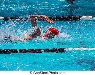 Freestyle swim heat